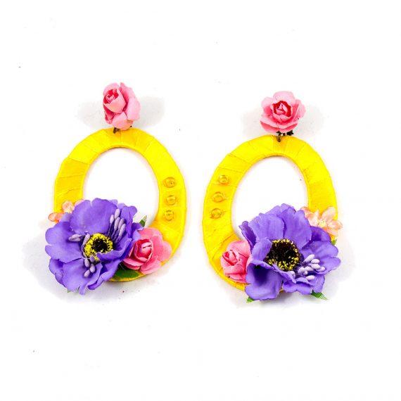 Pendientes flores amarillos