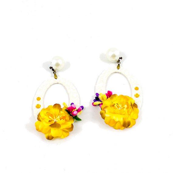Pendientes flores amarillas